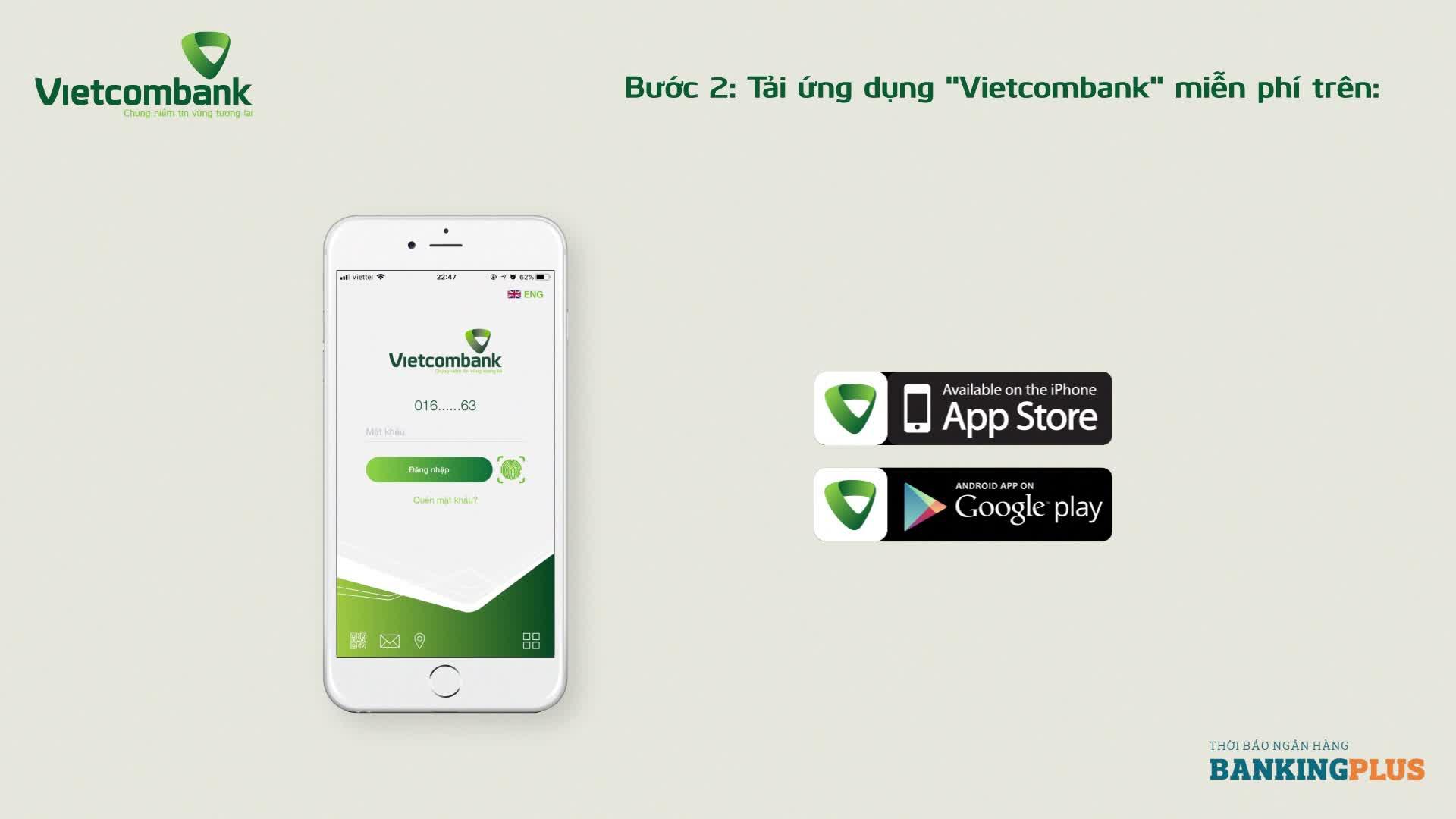 Hướng dẫn sử dụng thanh toán hóa đơn thông qua ứng dụng VCB - Mobile B@nking
